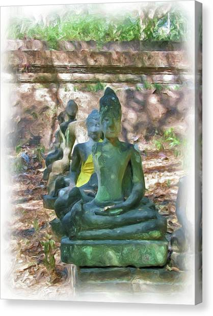 Wat Umong 3 Canvas Print