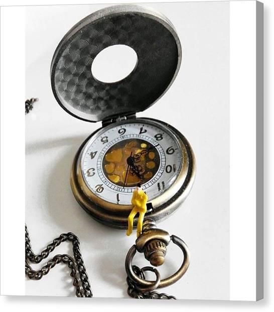Steampunk Canvas Print - #watch #clock #time #vintage #steampunk by Michele Stuppiello