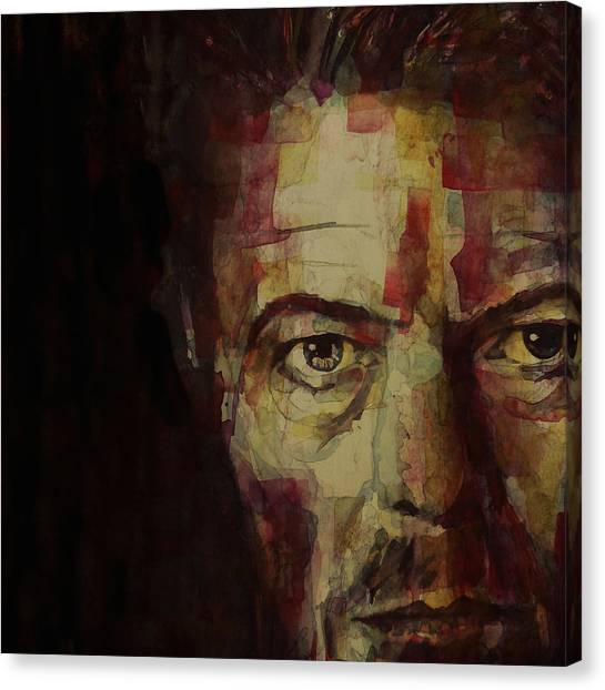 David Bowie Canvas Print - Watch That Man Bowie by Paul Lovering