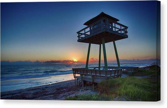 Watch Tower Sunrise 2 Canvas Print