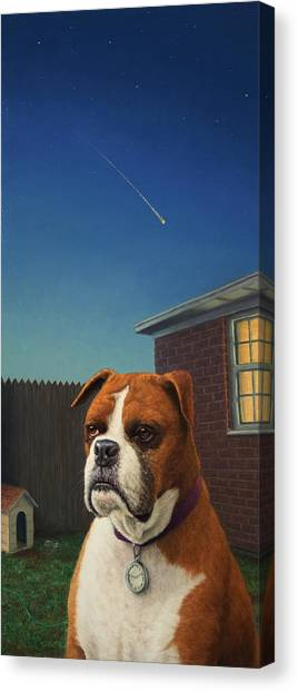 Boxers Canvas Print - Watchdog by James W Johnson