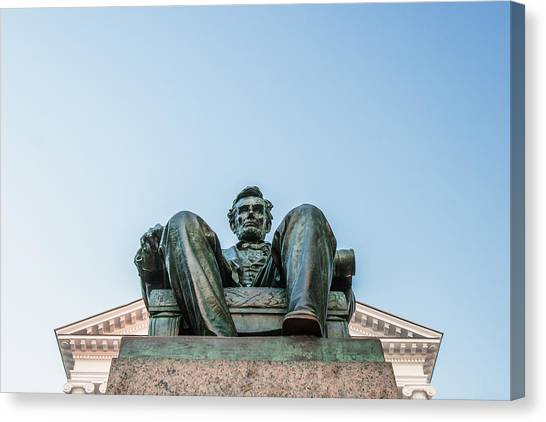 President Canvas Print - Watchful Abe by Todd Klassy