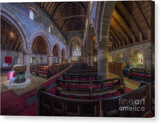 Old Christ Church Canvas Print - Watching Angels by Ian Mitchell