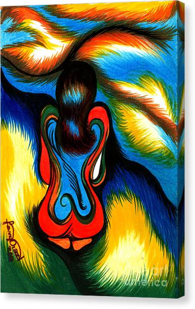Watching At The Horinzon Canvas Print by Fanny Diaz
