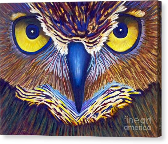 Large Birds Canvas Print - Watching by Brian  Commerford