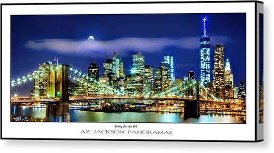 City Scene Canvas Print - Watching Over New York Poster Print by Az Jackson