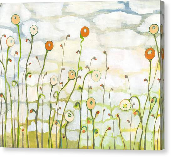Weather Canvas Print - Watching The Clouds Go By No 2 by Jennifer Lommers