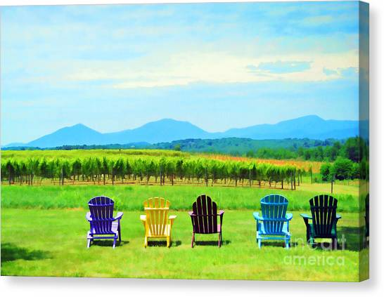 Watching The Grapes Grow Canvas Print