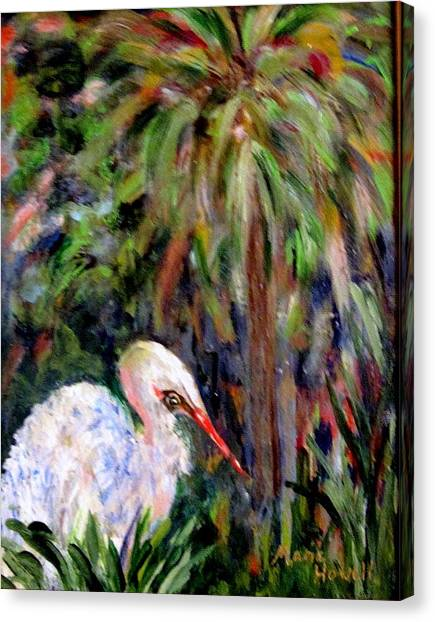 Watching The Marsh Canvas Print by Marie Howell