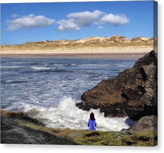 Watching The Waves At Fairy Bridges, Bundoran, Donegal - Ireland Canvas Print