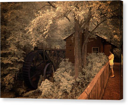 Watching The Wheels Canvas Print