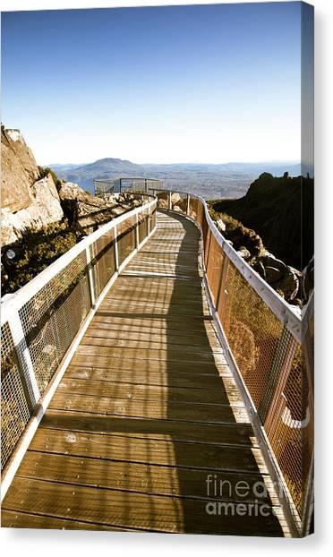 Mountain Cliffs Canvas Print - Watchtower Lookout, Ben Lomond, Tasmania by Jorgo Photography - Wall Art Gallery