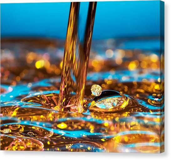 Clean Energy Canvas Print - Water And Oil by Setsiri Silapasuwanchai