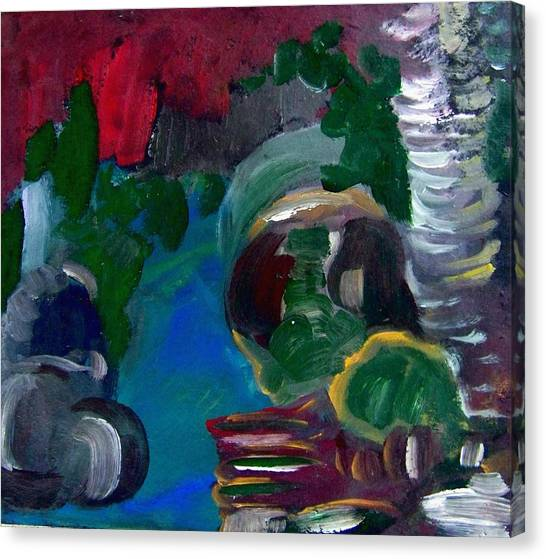Water And Rocks Canvas Print by Ellen Seymour
