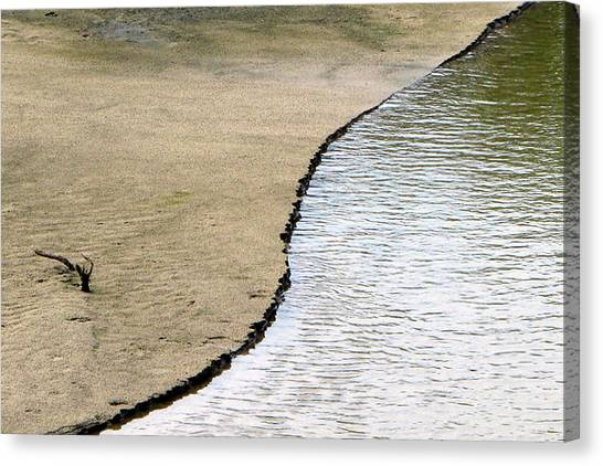 Water And Sand Canvas Print by Dottie Dees