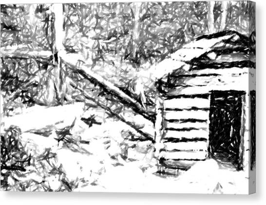 Water Cabin  Canvas Print