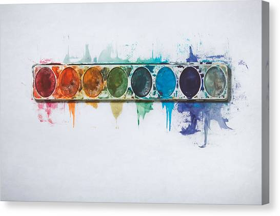 Offices Canvas Print - Water Colors by Scott Norris