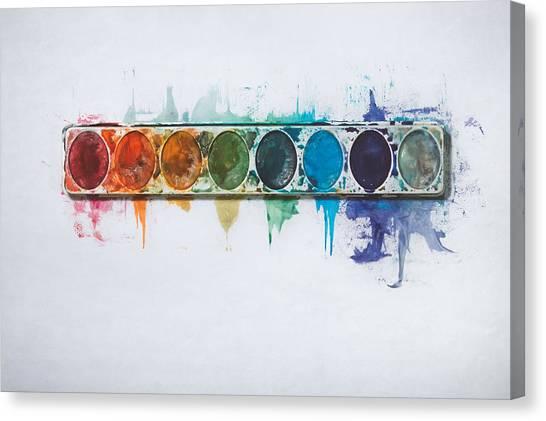 Water Drop Canvas Print - Water Colors by Scott Norris