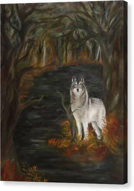 Water Dark Canvas Print