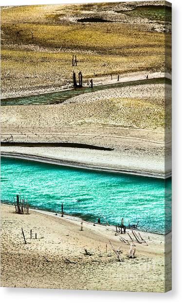 Water Edge 5 Canvas Print by Emilio Lovisa