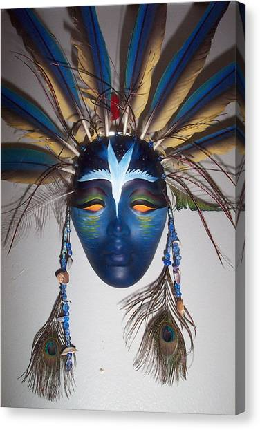 Water Face Canvas Print by Angelina Benson