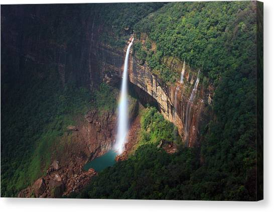 Water Falls At Cherrapunji, India Canvas Print