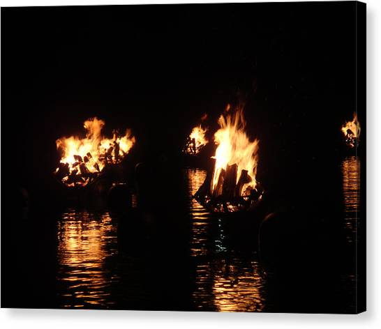 Water Fire Canvas Print by Jeff Porter
