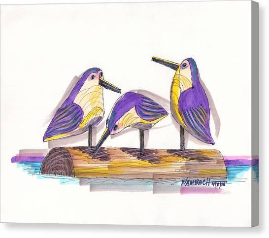 Water Fowl Motif #2 Canvas Print