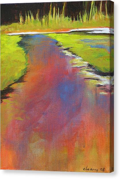 Water Garden Landscape 6 Canvas Print by Melody Cleary
