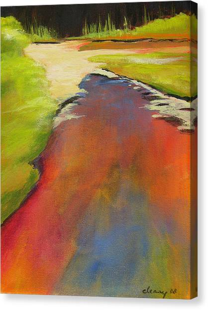 Water Garden Landscape 7 Canvas Print by Melody Cleary