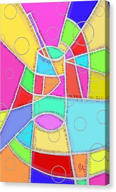 Water Glass Of Light And Color Canvas Print