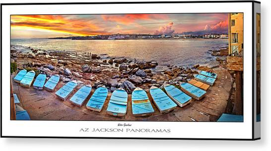 Symmetrical Canvas Print - Water Guardians Poster Print by Az Jackson
