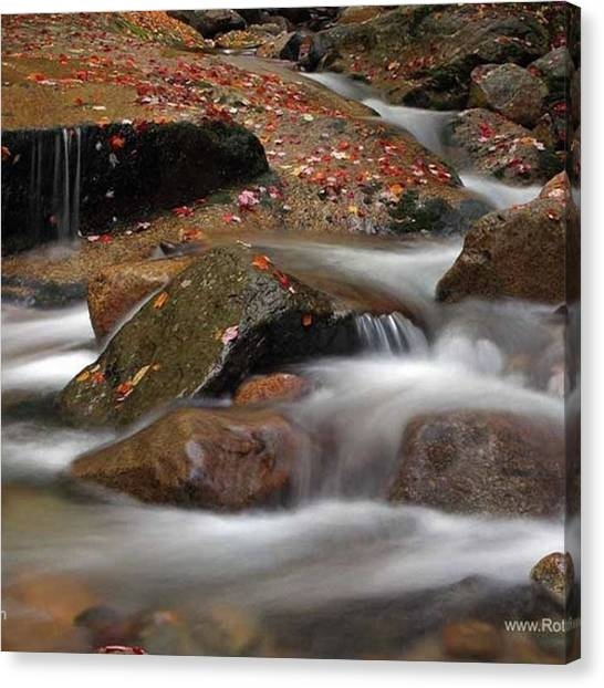 Waterfalls Canvas Print - Water Harmony - Www.rothgalleries.com by Juergen Roth