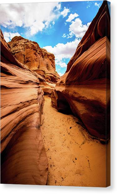 Canvas Print featuring the photograph Water Holes Canyon Trail by Norman Hall