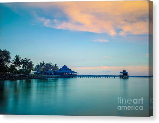Pontoon Canvas Print - Water House by Delphimages Photo Creations
