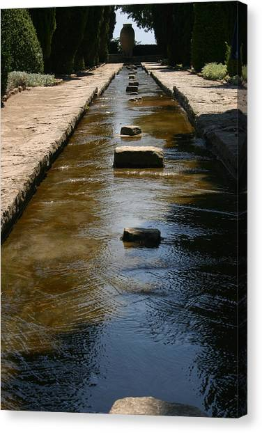 Water In The Balchik Garden Canvas Print