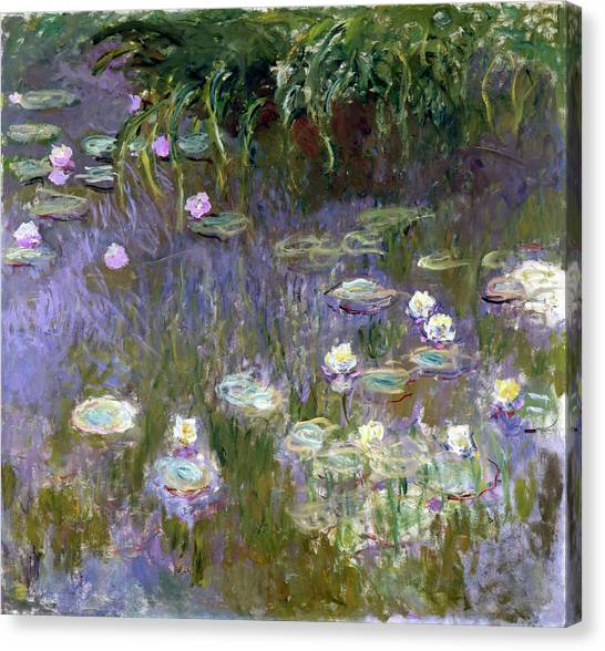 Lyrical Abstraction Canvas Print - Water Lilies, 1925 by Claude Monet