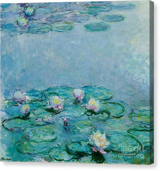 Painters Canvas Print - Water Lilies by Claude Monet