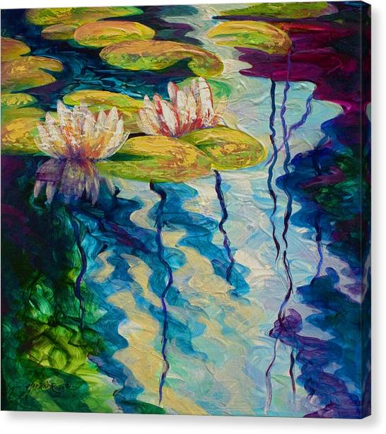 Koi Canvas Print - Water Lilies I by Marion Rose