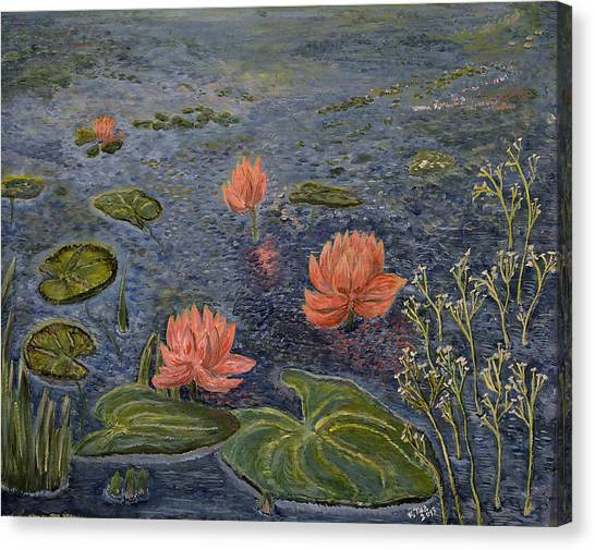 Water Lilies Lounge Canvas Print