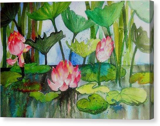 Water Lillies Two Canvas Print