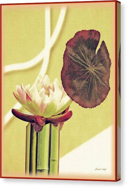 Canvas Print - Water Lily Still Life by Sarah Loft