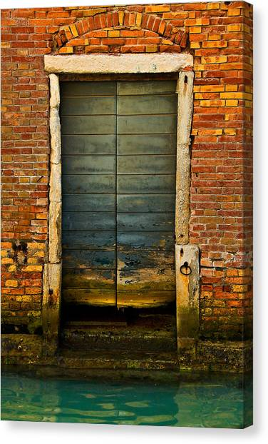Water-logged Door Canvas Print
