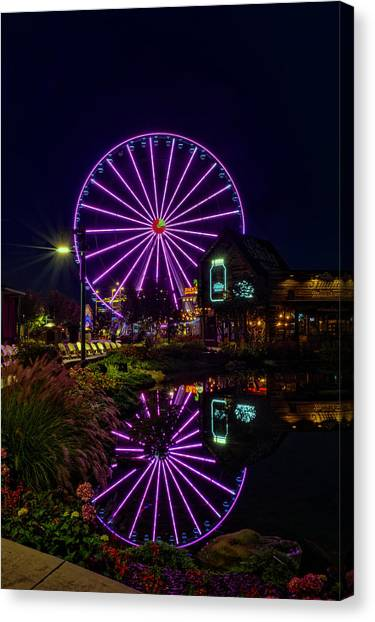 Water Moonshine And A Big Wheel Canvas Print
