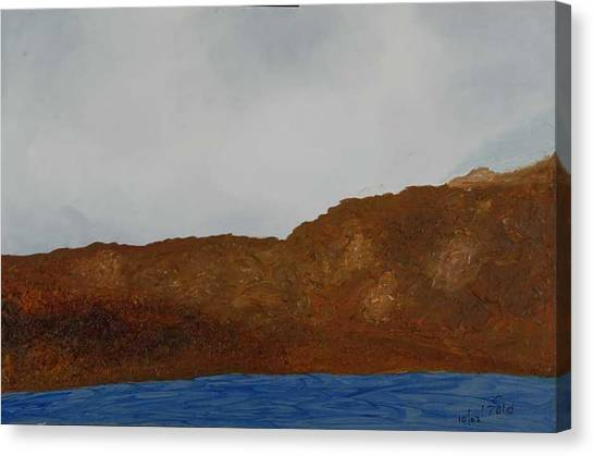 Water Mountain And Sky   Canvas Print by Harris Gulko