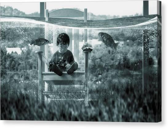 Mood Canvas Print - Water Playground by Dimas Awang