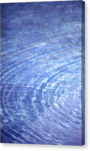 Water Ripple Canvas Print by John Foxx