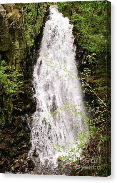 Water Roaring Down Cascade Falls, Farmington, Maine  -30377 Canvas Print