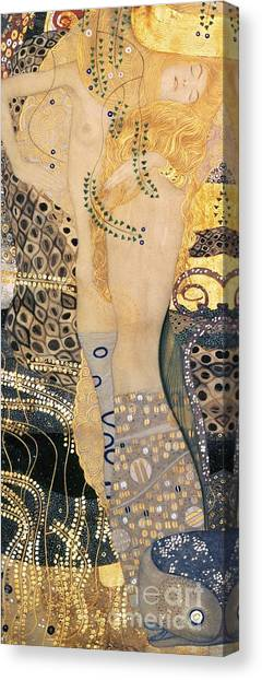 Nipples Canvas Print - Water Serpents I by Gustav klimt