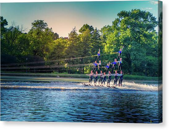 Water Skis Canvas Print - Water Ski Day by Art Spectrum